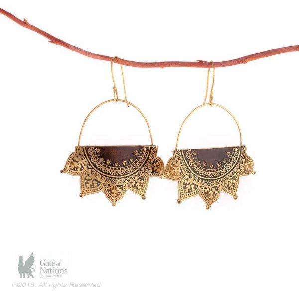 Brass Earring Model Sun