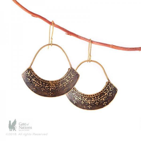 Brass Earring Model Pear
