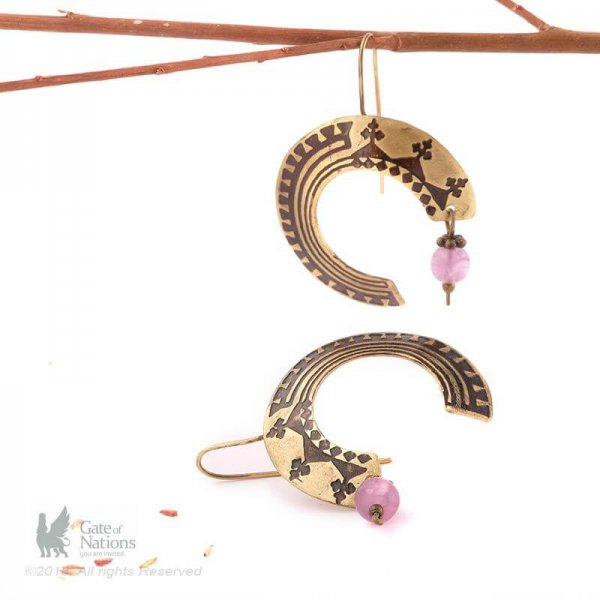 Brass Earring Model Circular