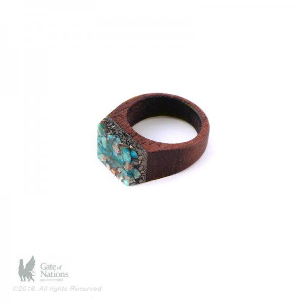 Resin And Stone Ring Model Flat Beauty