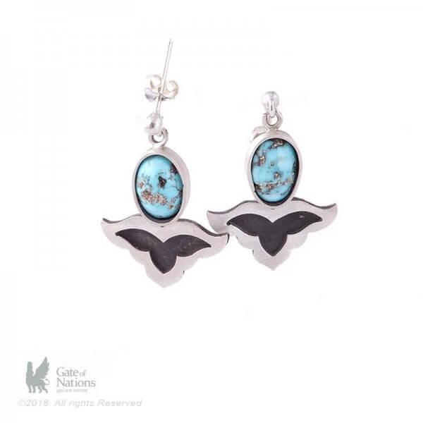 Silver Earring Model Sassanid Motif