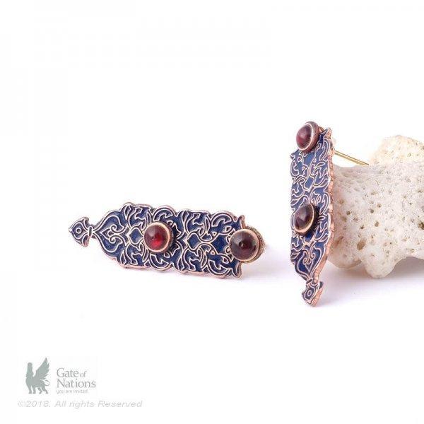 Copper Earring Model Small Blue Eslimi