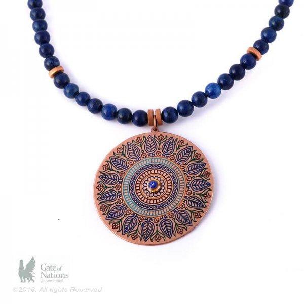 Copper Necklace Model Center Of Love