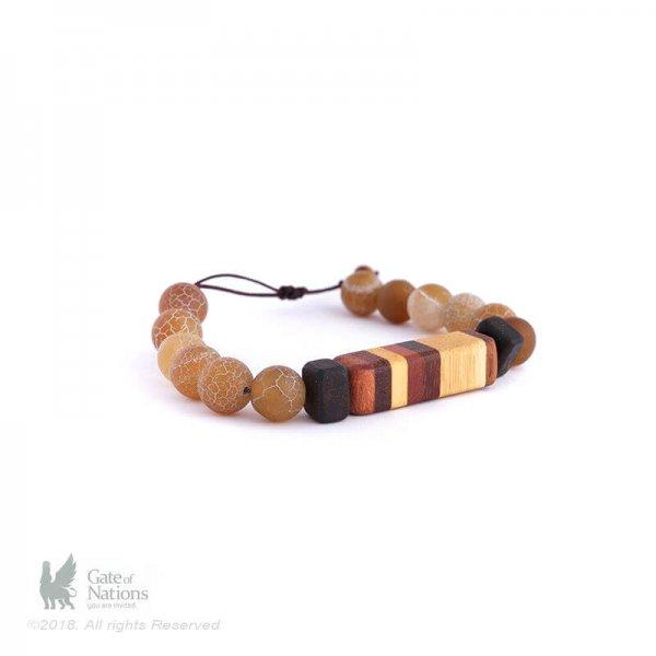 Wooden Bracelet Model Rainbow Of Woods