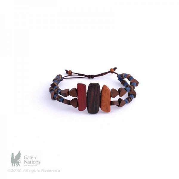 Wooden Bracelet Model Three Brothers