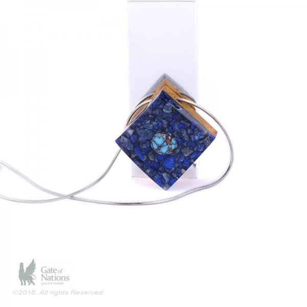 Resin And Stone Necklace Model Signet