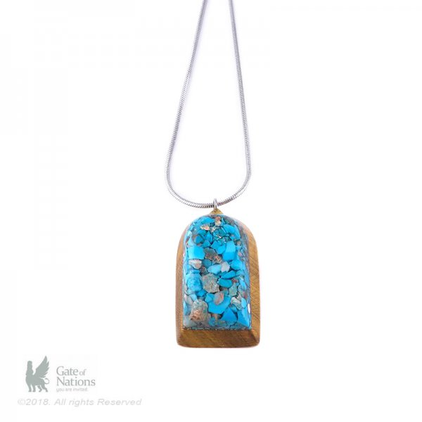 Resin And Stone Necklace Model A Little More Wood