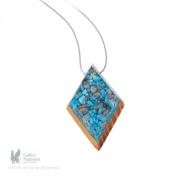 Resin And Stone Necklace Make Me Sharp