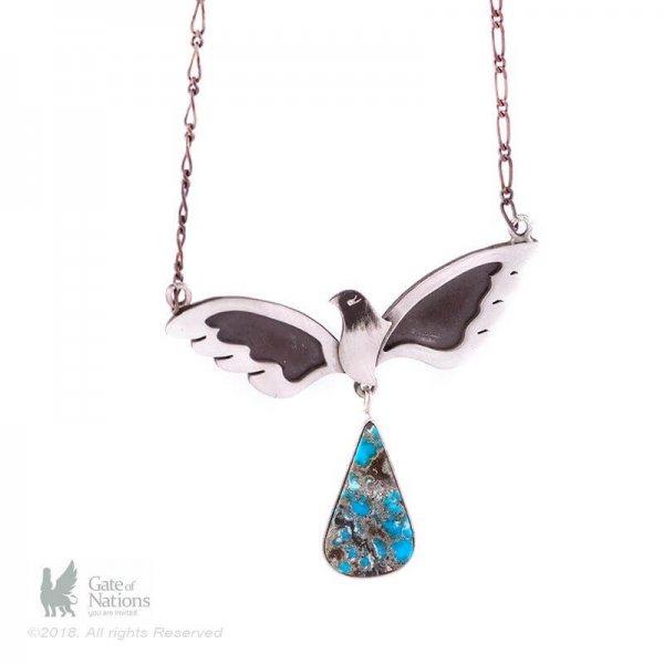 Silver Necklace Model Picasso Bird