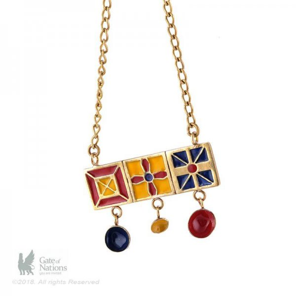 Brass Necklace Model Three Orosi