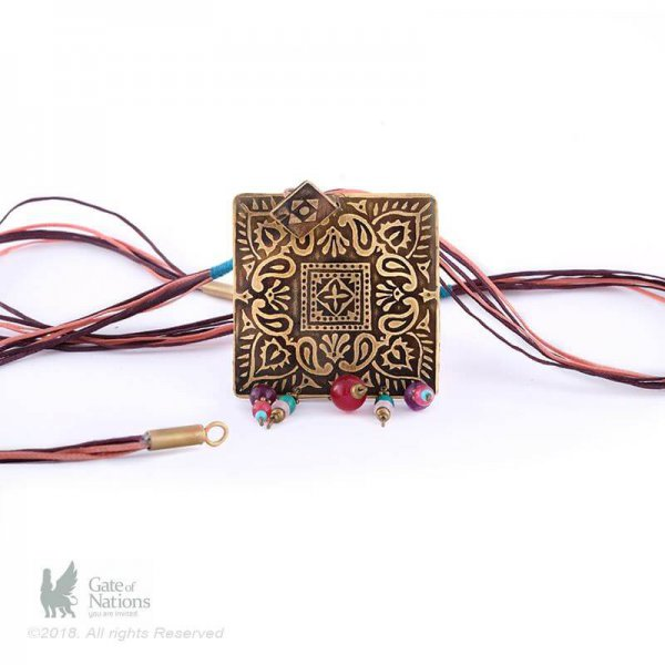 Brass Necklace Model Square