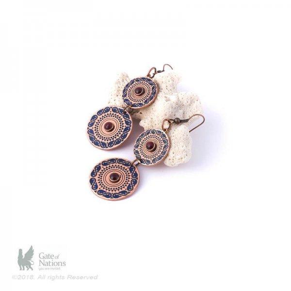 Copper Earring Model Center Of Love
