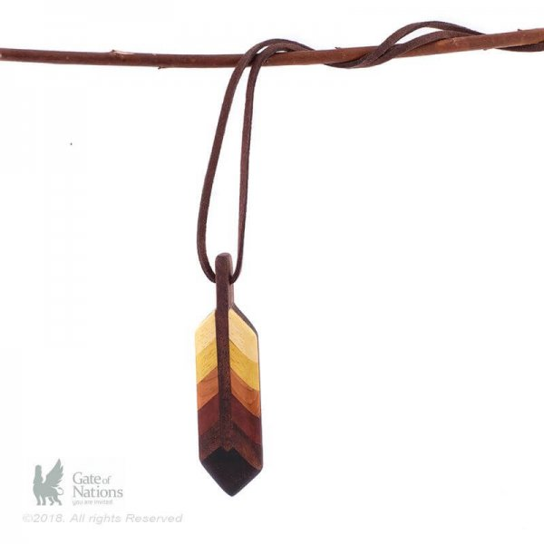 Nooden Necklace Model Feather Top Light