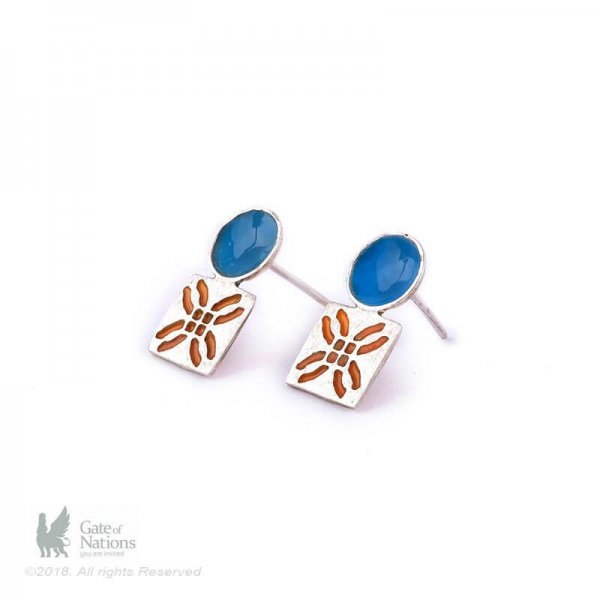 Silver Earring Model Small Square